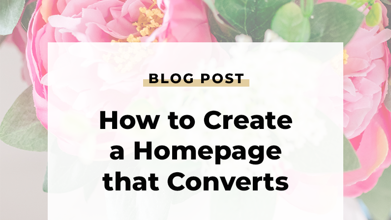 How To Create a Homepage That Converts