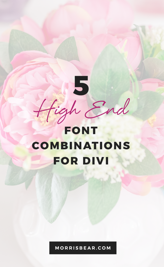 5 High End Font Combinations for Divi